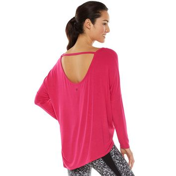 Gaiam Studio to Street Karma Asymmetrical Dolman Yoga Tunic