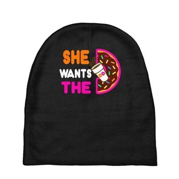 She Wants The D - Dunkin Donuts Baby Beanies