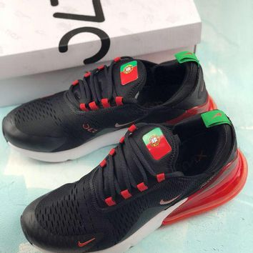 HCXX Nike Air Max 270 Fifa World Cup 2018 Causal Running Shoes Portugal Red Black