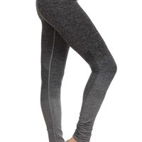 Ombre Full Length Athletic Leggings in Gray