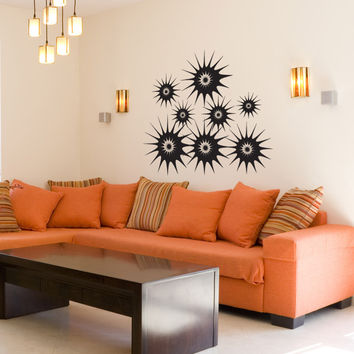 Vinyl Wall Decal Sticker Starbursts #1034