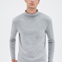 Heathered Turtleneck Shirt Heather Grey