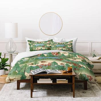 Belle13 Travelling Through Jurassic Duvet Cover
