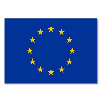 Patriotic table card with Flag of European Union