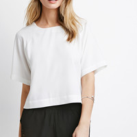 Raglan-Sleeved Crepe Top