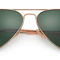 Ray-Ban RB3025 177 58-14 AVIATOR DISTRESSED Gold sunglasses | Official Online Store US