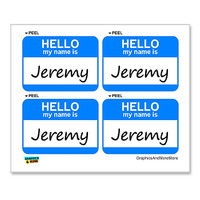 Jeremy Hello My Name Is - Sheet of 4 Stickers