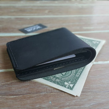 CRAZY HORSE Leather, Black wallets, Gift for you boyfriend, Groomsmen gift, Mens Personalized Minimalist, Personalized