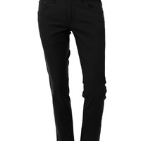 LE3NO Mens Classic Relaxed Straight Leg Jean Pants with Stretch (CLEARANCE)
