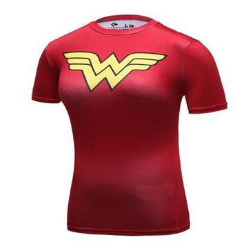 Superhero Wonder Women 3D Printed Compression Shirt