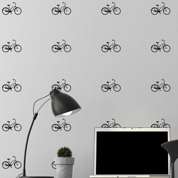 Tiny Bicycles Wall Pattern