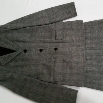 Vintage DKNY Glen Plaid skirt suit