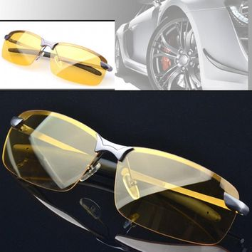 Zeagoo Men's Polarized Driving Fishing Riding Sunglasses Yellow Lens Night Vision Driving Glasses