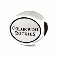 Sterling Silver Antiqued Colorado Rockies MLB Bead