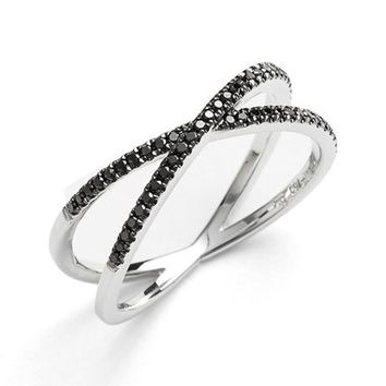 Bony Levy Stackable Crossover Diamond Ring (Nordstrom Exclusive)   Nordstrom