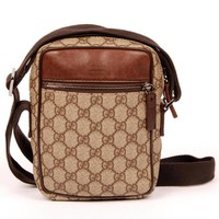 Gucci Brown Cross Body Bag 5548 (Authentic Pre-owned)