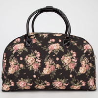 Flroal Print Duffle Bag Black One Size For Women 24687210001