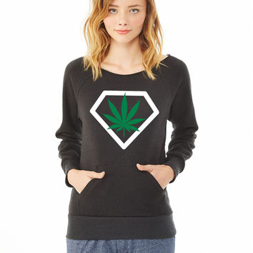 diamant weed_ ladies sweatshirt