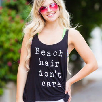 Beach Hair Don't Care Tank - 2 Colors