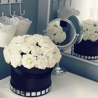 Pack of 20 DIY Rose Foam Flowers Artificial Roses for Bridal Bouquets Centerpieces Wedding Party Baby Shower DIY Decorations