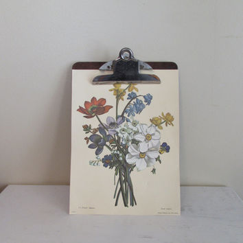 Vintage Clipboard | Shabby Chic Wall Decor | Antique Clip Board | Retro Office Decor | Mad Men Industrial Office