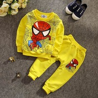 2017 Spring Autumn Kid Clothes Spiderman Clothing Sets Children Long Sleeve Tops+Pant Boys Clothes Suit Sports Wear Tracksuit