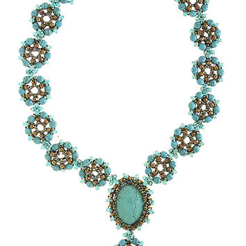 Precious Stone Turquoise Necklace