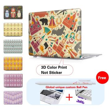 Russian Matryoshka Matte Surface Cover Case For Apple Macbook Air Pro 11 13 15 Pro Retina 13 15 Laptop Case For Mac Air 13 Case