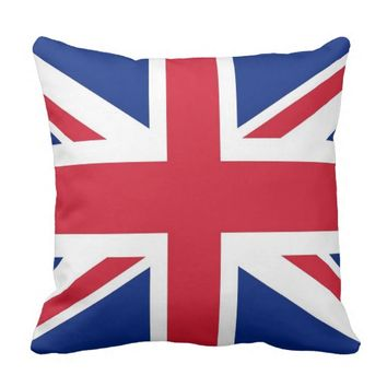 United Kingdom Flag on American MoJo Pillow