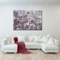 Abstract Floral Art ORIGINAL Purple Flower painting Purple Painting Acrylic on canvas Painting Purple Pink gray