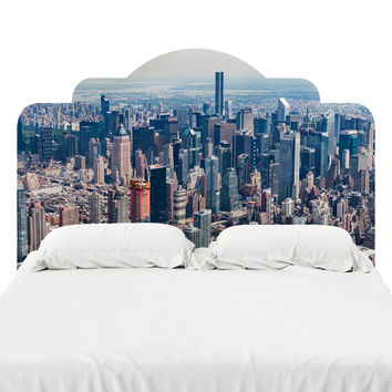 New York City from Above Headboard Decal