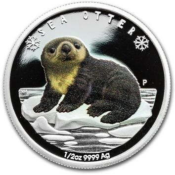2017 Tuvalu 1/2 oz Silver Proof Polar Babies: Sea Otter