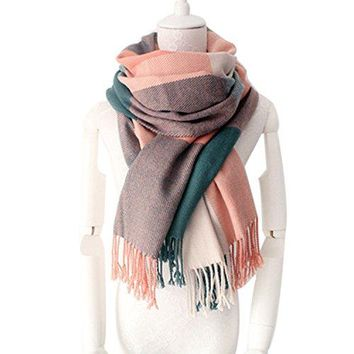 Women's Long Plaid Scarf