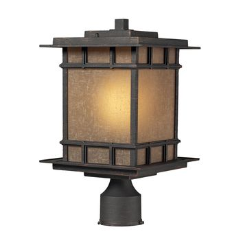 45014/1 Newlton 1 Light Outdoor Post Lamp In Weathered Charcoal - Free Shipping!