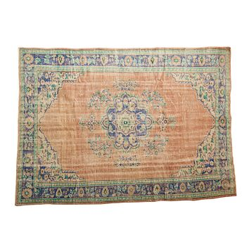 6x8.5 Vintage Distressed Oushak Carpet