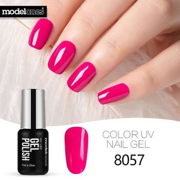 Modelones Hot Sale Soak Off UV Gel Nail Polish Pink Color Series Nail Gel Polish Nail Art Manicure Colorful Gel Lacquer