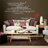 Marilyn Monroe Wall Decals for Living Room