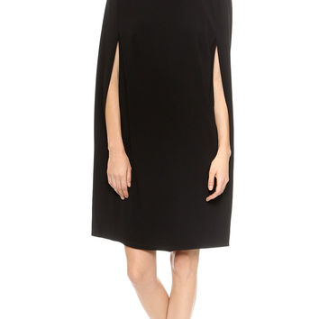 Solid Cape Dress