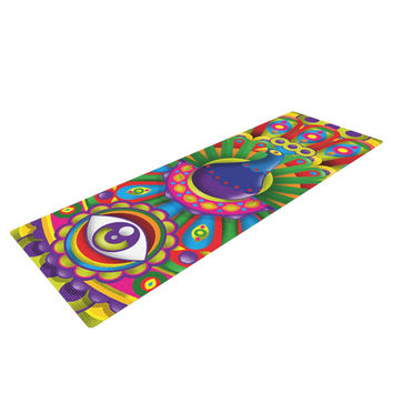 "Roberlan ""Peacolor"" Rainbow Peacock Yoga Mat"