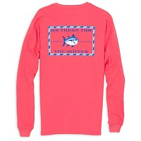 Long Sleeve Original Skipjack Tee Shirt in Ember Glow by Southern Tide