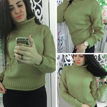 Sweets Pullover Hot Sale Ladies Knit Tops Sweater [11275919751]