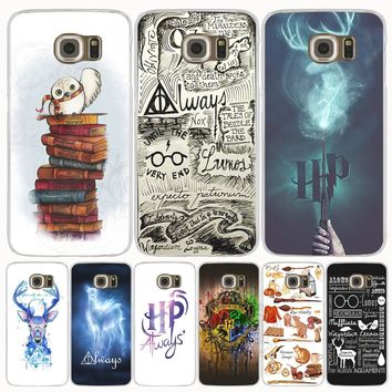 harry potter deer always owl howgwarts hallows cell phone case cover for  Samsung Galaxy S7 edge 9ca9a7f65a