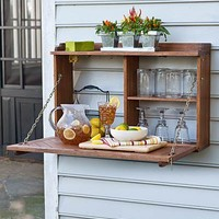 Space-Saving Entertaining Center for Outdoors