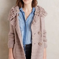Handknit Flurry Cardigan by Anthropologie in Neutral Size: