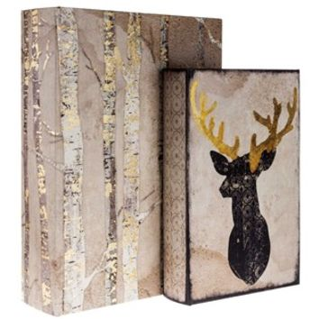 Tree & Deer Head Lined Book Box Set | Shop Hobby Lobby