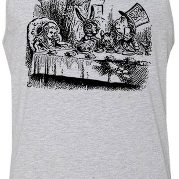 Alice in Wonderland - Mad Hatters Tea Party (Black) Tank-Top T-Shirt