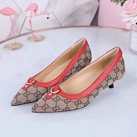 GUCCI Women Fashion Pointed Toe Heels Shoes