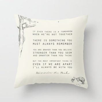 Winnie the Pooh Throw Pillow by Zeke Tucker | Society6