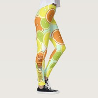 Citrus Fruits Pattern Cute Modern Personalized Leggings