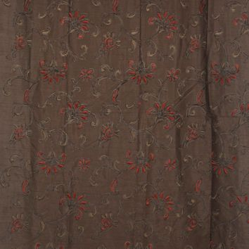 Brown and Orange embroidered floral Mod Cloth Backdrop - 5x10 - LCMODSL182 - LAST CALL